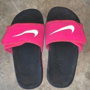 Girls Nike slip on sandals